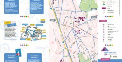 Fietsroutekaart voor de scholen in de gemeente Hove